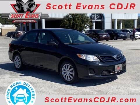 2013 Toyota Corolla for sale at SCOTT EVANS CHRYSLER DODGE in Carrollton GA