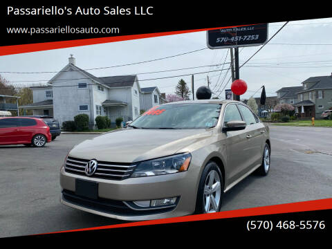 2015 Volkswagen Passat for sale at Passariello's Auto Sales LLC in Old Forge PA