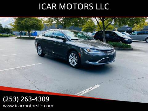 2015 Chrysler 200 for sale at ICAR MOTORS LLC in Federal Way WA