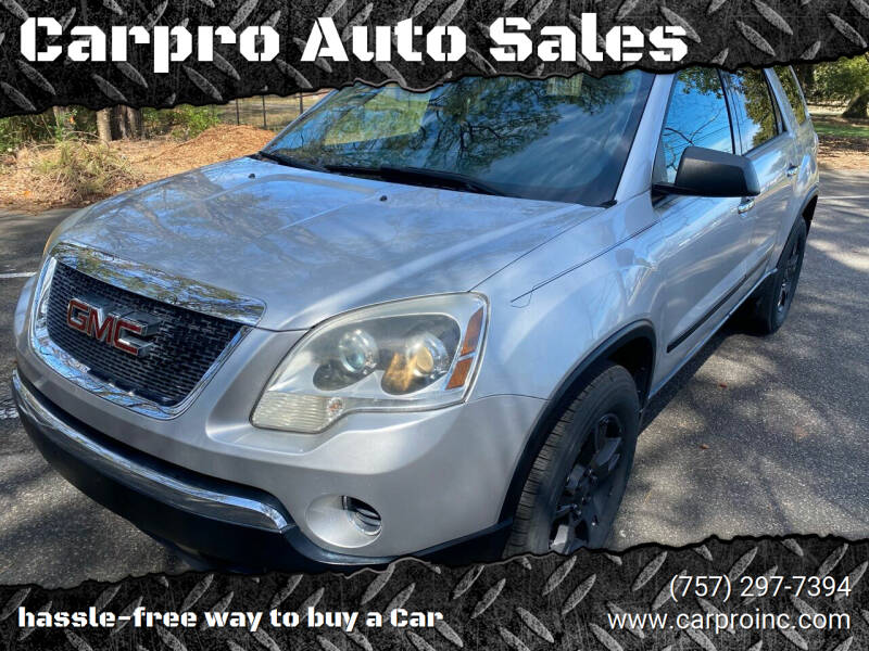 2011 GMC Acadia for sale at Carpro Auto Sales in Chesapeake VA
