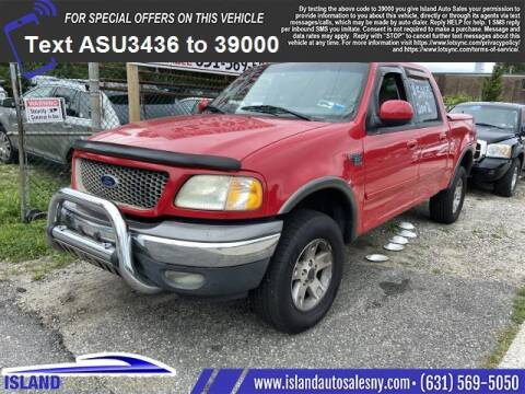 2002 Ford F-150 for sale at Island Auto Sales in East Patchogue NY