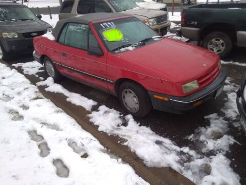 1991 Dodge Shadow for sale at Continental Auto Sales in White Bear Lake MN