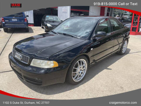 2002 Audi S4 for sale at CRAIGE MOTOR CO in Durham NC