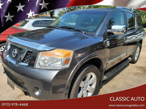 2011 Nissan Armada for sale at Classic Auto in Greeley CO