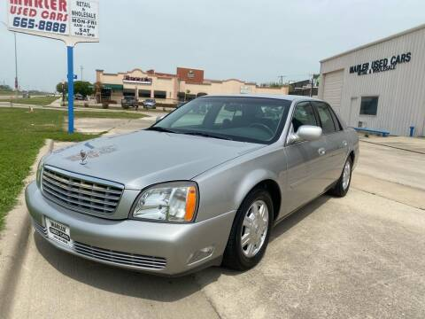 2005 Cadillac DeVille for sale at MARLER USED CARS in Gainesville TX