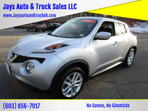 2015 Nissan JUKE for sale at Jays Auto & Truck Sales LLC in Loudon NH
