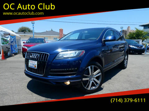 2013 Audi Q7 for sale at OC Auto Club in Midway City CA