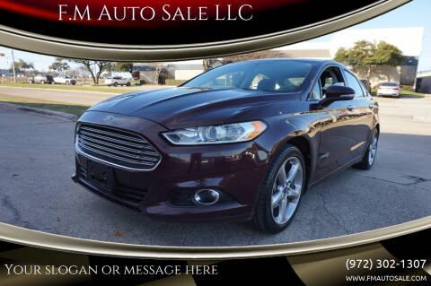 2013 Ford Fusion Hybrid for sale at F.M Auto Sale LLC in Dallas TX
