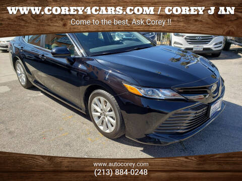 2018 Toyota Camry for sale at WWW.COREY4CARS.COM / COREY J AN in Los Angeles CA