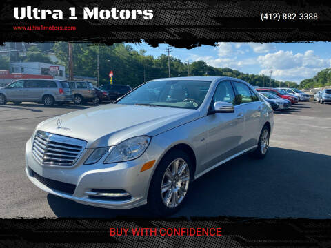 2012 Mercedes-Benz E-Class for sale at Ultra 1 Motors in Pittsburgh PA