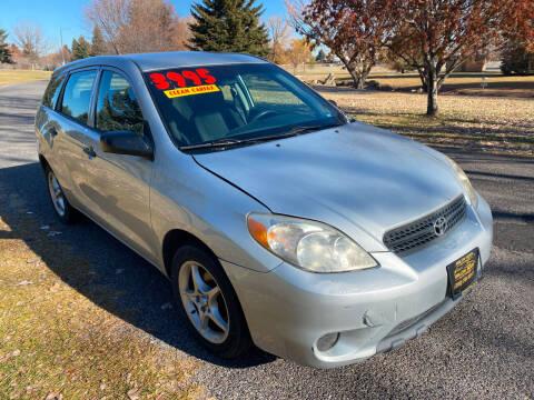 2007 Toyota Matrix for sale at BELOW BOOK AUTO SALES in Idaho Falls ID