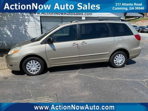 2008 Toyota Sienna for sale at ACTION NOW AUTO SALES in Cumming GA