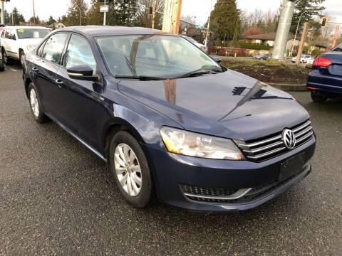 2015 Volkswagen Passat for sale at KARMA AUTO SALES in Federal Way WA