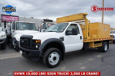 2008 Ford F-550 Super Duty for sale at STAPLETON MOTORS in Commerce City CO
