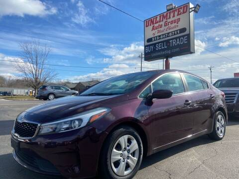 2017 Kia Forte for sale at Unlimited Auto Group in West Chester OH