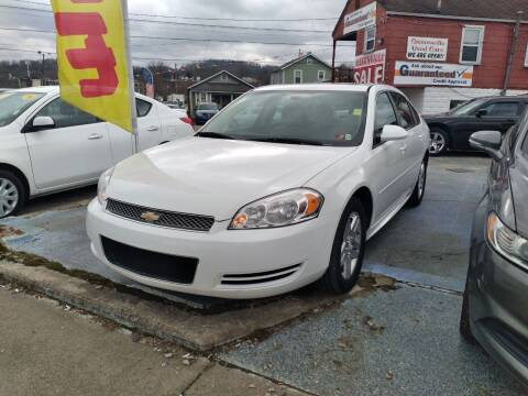 2012 Chevrolet Impala for sale at Sissonville Used Cars in Charleston WV