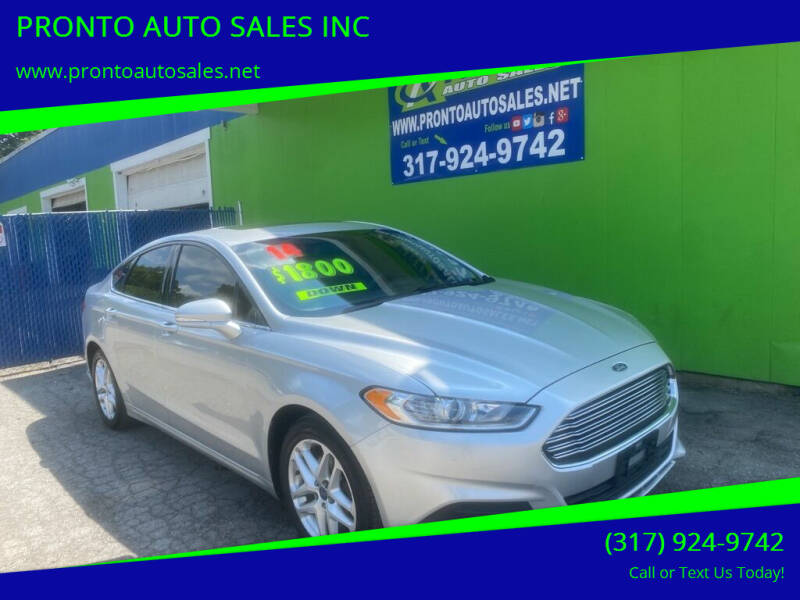 2014 Ford Fusion for sale at PRONTO AUTO SALES INC in Indianapolis IN