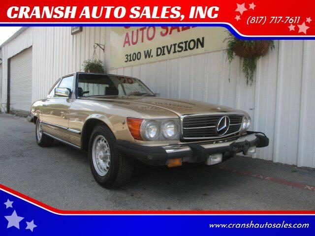 1981 Mercedes-Benz 380-Class for sale at CRANSH AUTO SALES, INC in Arlington TX