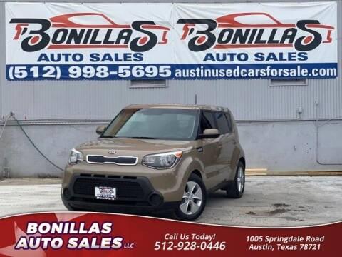 2015 Kia Soul for sale at Bonillas Auto Sales in Austin TX