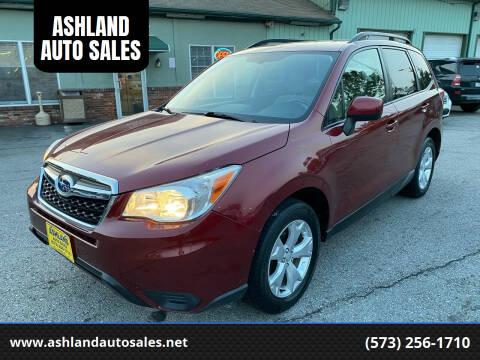 2014 Subaru Forester for sale at ASHLAND AUTO SALES in Columbia MO