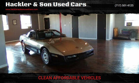 1986 Chevrolet Corvette for sale at Hackler & Son Used Cars in Red Lion PA