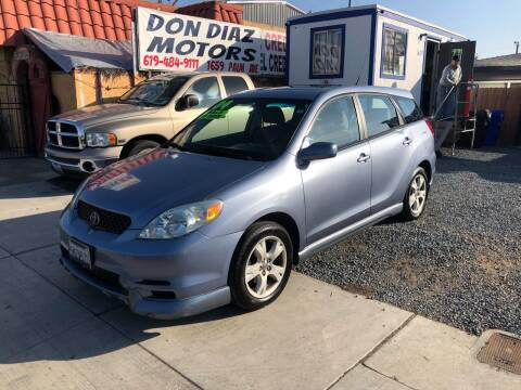 2004 Toyota Matrix for sale at DON DIAZ MOTORS in San Diego CA