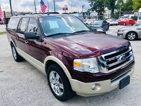 2010 Ford Expedition EL for sale at Lion Auto Finance in Houston TX