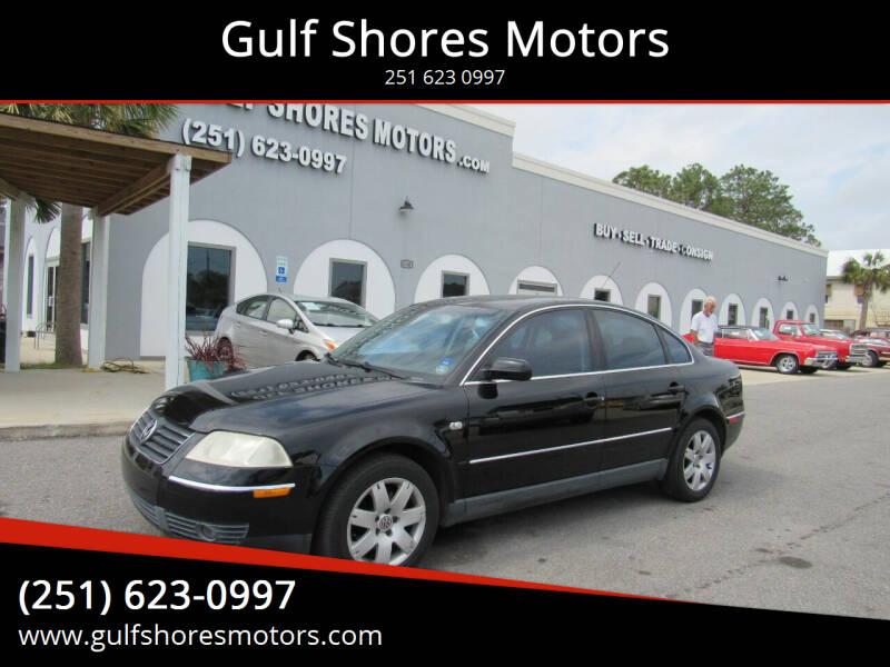 2003 Volkswagen Passat for sale at Gulf Shores Motors in Gulf Shores AL