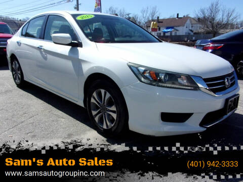 2015 Honda Accord for sale at Sam's Auto Sales in Cranston RI