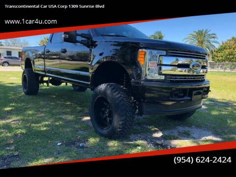 2018 Ford F-250 Super Duty for sale at Transcontinental Car in Fort Lauderdale FL
