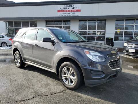 2016 Chevrolet Equinox for sale at Landes Family Auto Sales in Attleboro MA