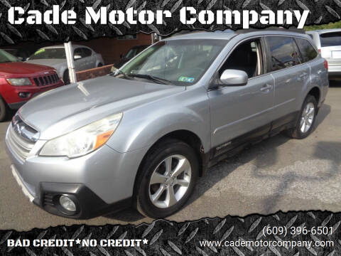 2013 Subaru Outback for sale at Cade Motor Company in Lawrence Township NJ