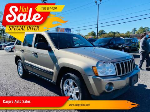 2006 Jeep Grand Cherokee for sale at Carpro Auto Sales in Chesapeake VA