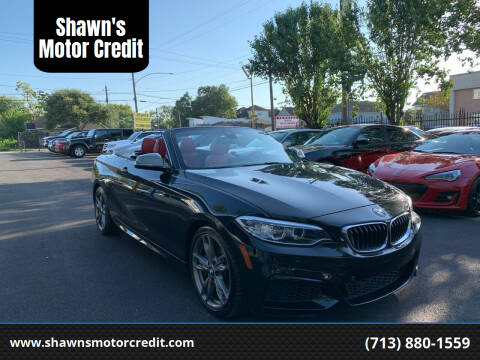 2015 BMW 2 Series for sale at Shawn's Motor Credit in Houston TX