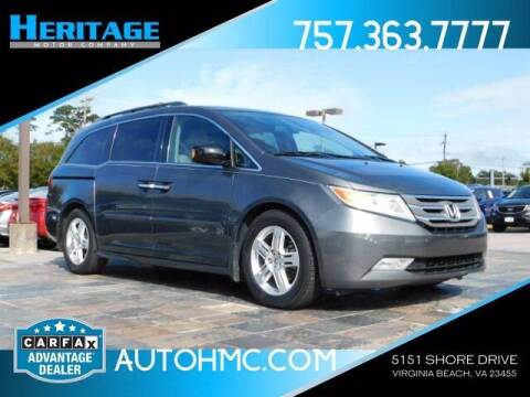 2013 Honda Odyssey for sale at Heritage Motor Company in Virginia Beach VA