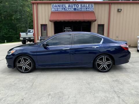 2017 Honda Accord for sale at Daniel Used Auto Sales in Dallas GA