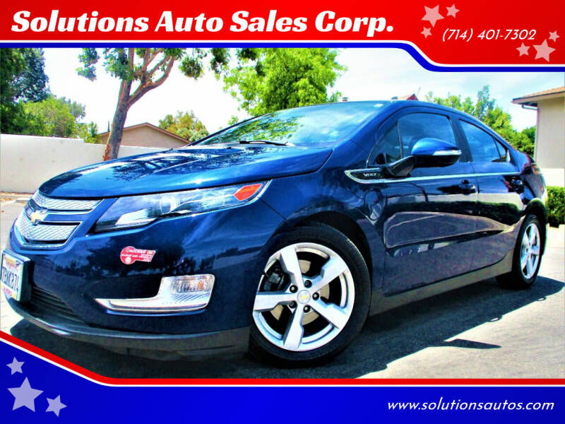 2013 Chevrolet Volt for sale at Solutions Auto Sales Corp. in Orange CA