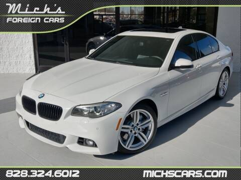 2015 BMW 5 Series for sale at Mich's Foreign Cars in Hickory NC