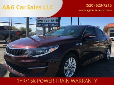 2016 Kia Optima for sale at A&G Car Sales  LLC in Tucson AZ