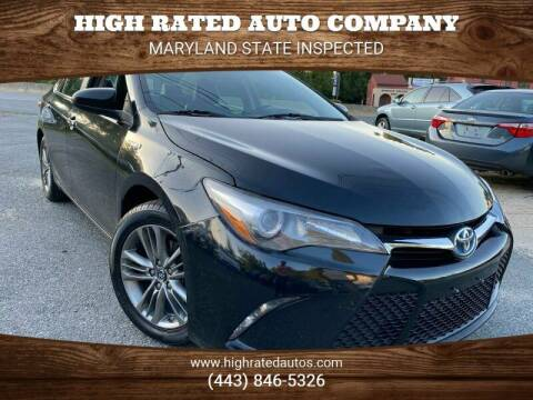 2016 Toyota Camry Hybrid for sale at High Rated Auto Company in Abingdon MD