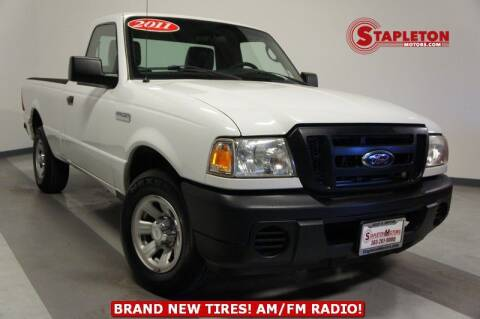 2011 Ford Ranger for sale at STAPLETON MOTORS in Commerce City CO