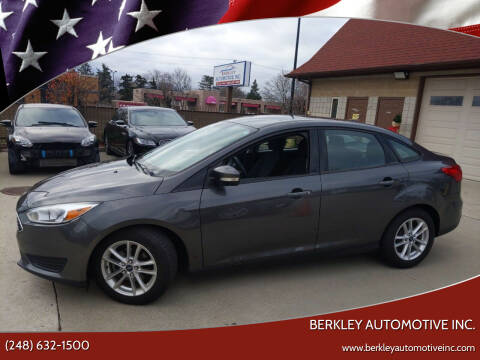 2016 Ford Focus for sale at Berkley Automotive Inc. in Berkley MI