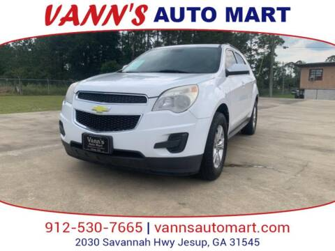 2012 Chevrolet Equinox for sale at VANN'S AUTO MART in Jesup GA