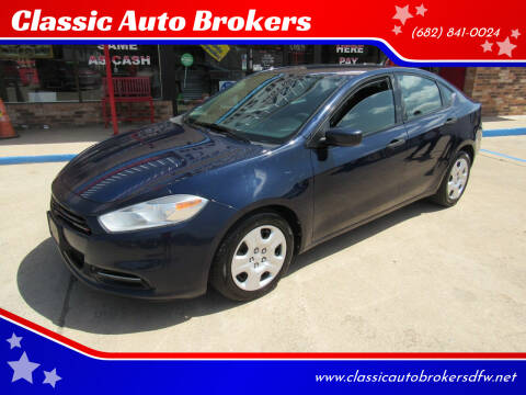 2013 Dodge Dart for sale at Classic Auto Brokers in Haltom City TX