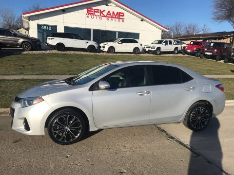 2015 Toyota Corolla for sale at Efkamp Auto Sales LLC in Des Moines IA