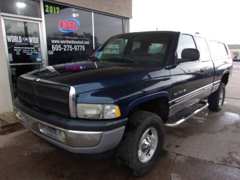 2000 Dodge Ram Pickup 1500 for sale at World Wide Automotive in Sioux Falls SD