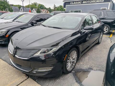 2013 Lincoln MKZ for sale at CLASSIC MOTOR CARS in West Allis WI