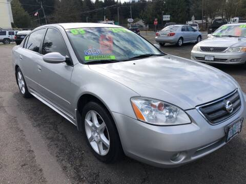 2003 Nissan Altima for sale at Freeborn Motors in Lafayette, OR