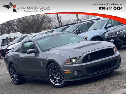 2011 Ford Shelby GT500 for sale at Star Motor Sales in Downers Grove IL