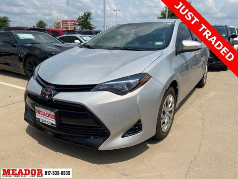 2017 Toyota Corolla for sale at Meador Dodge Chrysler Jeep RAM in Fort Worth TX